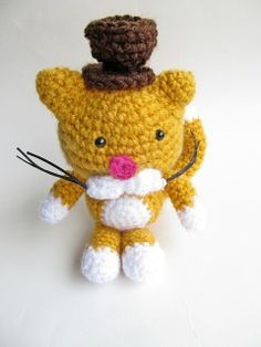"""An Amigurumi Cat Gentleman Crochet Pattern"""
