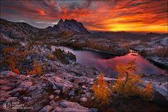 Blazing Enchantments Enchantment Lakes, Washington by Zack Schnepf Photography