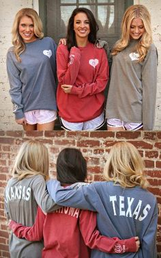 Long sleeve state tees! I love the heart on the left chest!