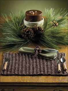 Woodsy Place Mat & Napkin Ring