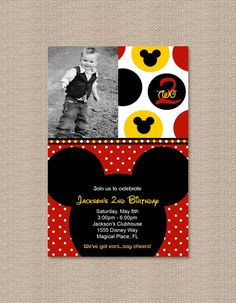 Another Mickey Mouse Party Invitiation @Monica Gonzalez