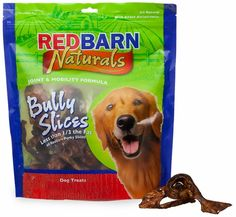 """Redbarn Bully Slices (9 oz) are delicious, easy to feed chews for dogs.  These natural cow ears are coated in Redbarn's special """"Bully Stick gravy coating"""" which even finicky dogs will find irresistible! Bully Slices are a great alternative to rawhide treats."""