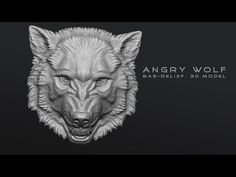 Work in Progress. Angry Wolf head bas-relief. 3D sculpting in Zbrush: http://voronart.com/3d-angry-wolf-head-relief/