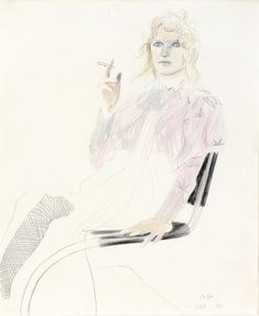 David Hockney Celia, 1970 Pencil and Crayon Pencil Painting, Figure Painting, Hockey Drawing, Modern Portraits, David Hockney, Design Lab, Pencil Portrait, Art Techniques, Figurative