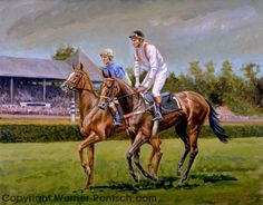 Equine Artist Werner Rentsch | Horse Racing Art | Sporting Art | Thoroughbred…