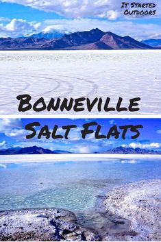 The Bonneville Salt Flats are along about 10 miles east of Wendover. Traveling from SLC to Nevada? Definitely stop at this bizarre act of nature. Cool Places To Visit, Places To Travel, Travel Destinations, Salt Flats Utah, Booneville Salt Flats, Visit Utah, Utah Adventures, Utah Hikes, Us Road Trip