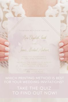 What are letterpress wedding invitations and do they fit your wedding style? Take the quiz now to find out!
