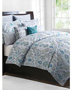 dragon paisley bedding collection -tahari home 300 thread count