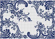 Doily 15   Chart for filet crochet Tolle Web-page dahinter mit unzähligen Charts zum Sticken und Filethäkeln