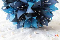 Buquê de Origami - Lírios II para noivas - Hikari's Origami -  Saiba mais em: http://hikarisorigami.wix.com/hikarisorigami