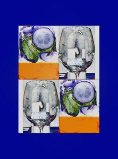 """'Wandkacheln """"Bar"""" pp' von Rudolf Büttner bei artflakes.com als Poster oder Kunstdruck $19.41"""
