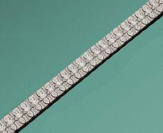 Elegantes Brillantarmband Weißgold, gest. 750. Schauseitig ausgefasst mit insges. 504 Brillanten vo — Schmuck