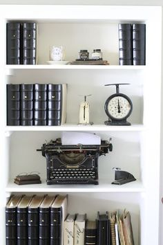 Unique idea for bookcase or shelving