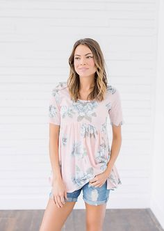 Pink Floral Peplum Top from Bella Ella Boutique    Pink Floral Top for Spring. Spring Fashion. Floral Top. Pink Peplum. Bella Ella Boutique. Womens Online Clothing Boutique. Utah Boutique.