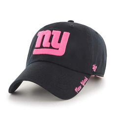 8fc845a9103 New York Giants Women s 47 Brand Pink Black Clean Up Hat Detroit Game