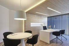 Warm pendant, designed by Ramos & Bassols, provide a pleasant lighting in the offices of Institut del Son, Lleida. Photo by Lluís Jou http://www.vibia.com/en/warm-pendant-lighting/?utm_source=social&utm_medium=pinterest&utm_campaign=warm_institut_son&utm_content=pint_pubutm_term=