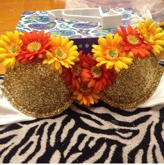Under 10$ bra, glitter, flowers. Easy peasy lemon squeazy!! EDC 2014 my outfit with gold tie bottoms!!