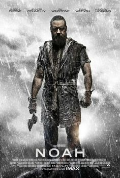 Eek Noah with an axe! The new #Noah Movie Poster makes us a little terrified of Russell Crowe.