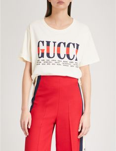 GUCCI - Logo-print cotton-jersey T-shirt   Selfridges.com - $550