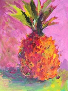 Holiday Pineapple - oil by ©Amy Whitehouse (via DailyPaintworks)