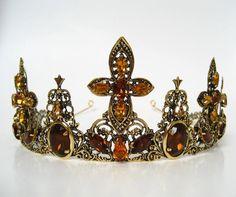 """Medieval Tiara """"Forest Princess""""; wedding crown; bridal crown; princess crown"""