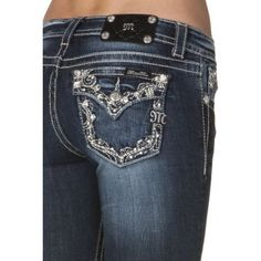 Miss Me Junior's Rhinestone Bootcut Jeans