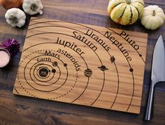 Geekery Engraved Wood Bamboo Cutting Board by ElysiumWoodworks, $35.00