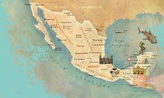 Mexico map by Adam Pękalski