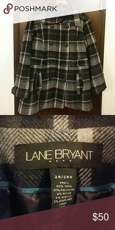 Coat Lane Bryant Women's Pea coat Lane Bryant Jackets & Coats Pea Coats