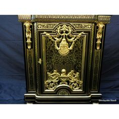 Antiquites-biau.com -Cabinet in #Boulle #marquetry #Napoléon III 19th stamped #marqueterie #design #fineart #interiors #french #antiques