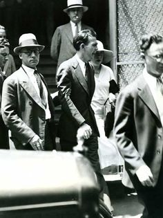 Legs Diamond the day he left courthouse acquitted of charges -- he was murdered that night (1931)