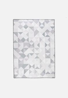 Grey Geo Printed Rug Forest Nursery, Color Splash, Screen Printing, Hand Weaving, Custom Design, Quilts, Rugs, Grey, Pattern
