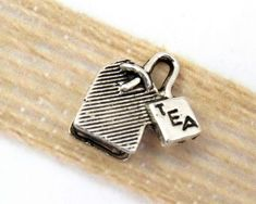 Craft charms,sewing notions,Hand Made hands, 2 Silver tone antiqued finish