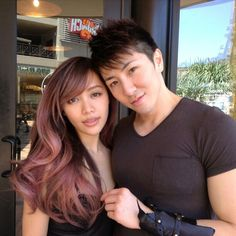 This rose gold hair color on Michelle Phan