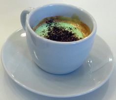 Caffe Pedrocchi is the name of both a café in Padua, Italy, and its signature drink: unsweetened espresso topped with a cool, sweet mint cream and finished off with very finely grated chocolate. Why doesn't some coffee shop entrepreneur in the U.S. introduce its own version of this (I assume Caffe Pedrocchi won't give away its cream recipe)? I'm telling you, they would CLEAN UP.