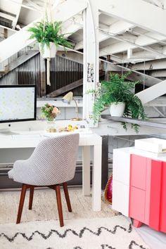 home office [Image Via: DesignLoveFest] Home Office Design, Modern House Design, Home Design, Office Decor, Office Ideas, Cozy Office, Attic Office, Design Design, Workspace Inspiration