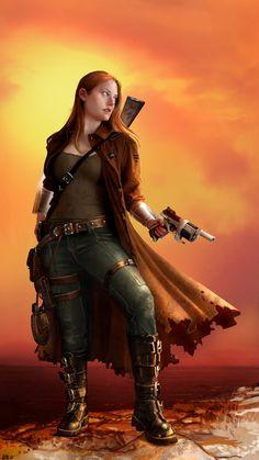 Aeons: Gun Slinger by lorraine-schleter on deviantART