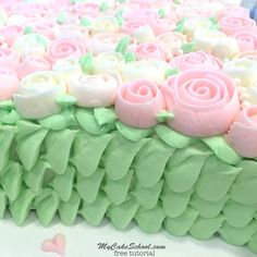 Learn to make a gorgeous Buttercream Rose Heart Cake quickly and easily in MyCakeSchool.com's free cake video tutorial!
