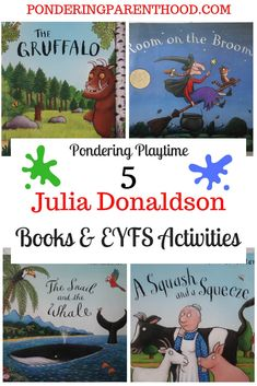 5 Julia Donaldson Books and Learning Activities - Pondering Parenthood Gruffalo Activities, Eyfs Activities, Reading Activities, Teaching Reading, World Book Day Activities, World Book Day Ideas, Julia Donaldson Books, Nursery Book, Summer Books