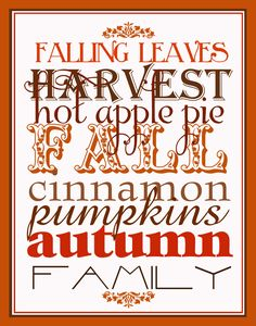 Falling Leaves printable by Hopscotch Designs.