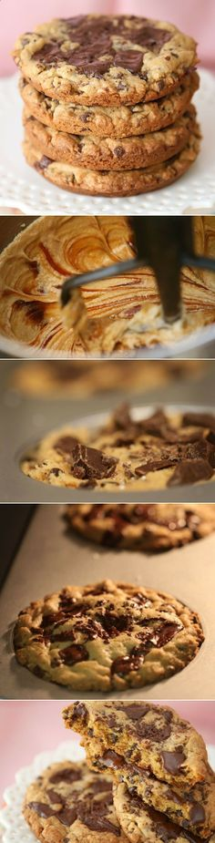 XXL Salted Caramel Dark Chocolate Chunk Cookies!