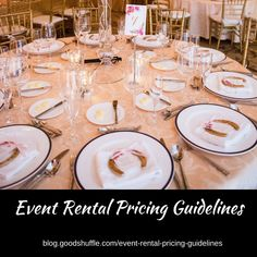 Event rental companies need to be smart about pricing their inventory. Where does a new business owner begin? Here are the questions all smart party planners and event rental owners will ask themselves before they set their client prices. Event Rental Business, Event Planning Business, Event Planning Template, Event Planning Checklist, Party Venues, Event Venues, Party Planners, Event Planners, Wedding Rentals