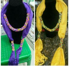 Beaded scarf to compliment your fashion and to give you an outstanding look.