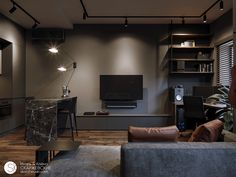 Interior design is the best thing you can do for your home Small Apartment Design, Small Apartment Living, Small Room Design, Home Room Design, Loft Design, Home Office Design, Small Apartments, Home Living Room, Living Room Designs
