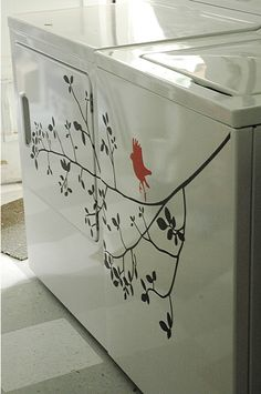 A really cute touch if your washer/dryer is in a place seen by guests :)