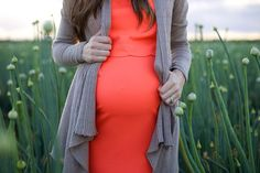 A Cloudy Sky Spring Maternity Session