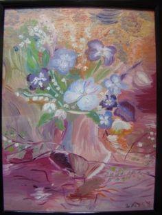 "Saatchi Art Artist bratu mihaela; Painting, ""Heavenly flowers"" #art"