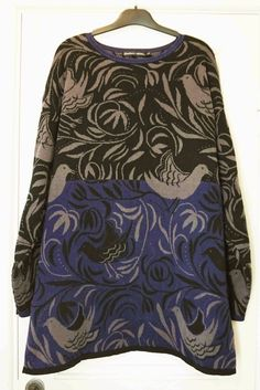 GUDRUN SJODEN SJÖDÉN Women's Long Sleeve Crew Neck Sweater Top Birds & Leaves | eBay