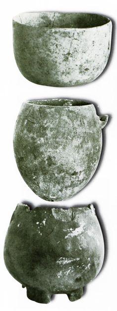 Çatalhöyük,Seramik çanak ve çömlekler, Konya Arkeoloji Müzesi, James Mellaart (Erdinç Bakla archive)