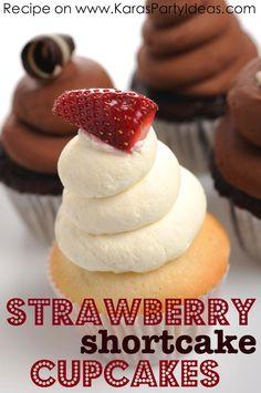 Strawberry Shortcake Cupcakes Recipe #strawberryshortcake #recipe #cupcakes